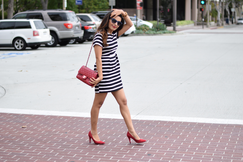 Monochrome Stripes \u0026 Red Shoes – KavsArena